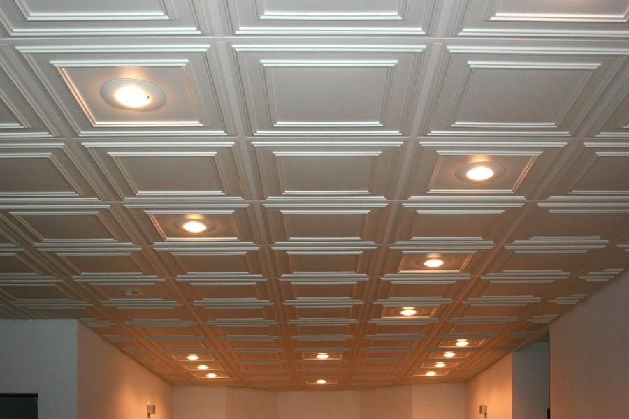 Tuile de plafond suspendu ceilume cambridge 2 pi x 2 pi blanc for Accessoire plafond suspendu