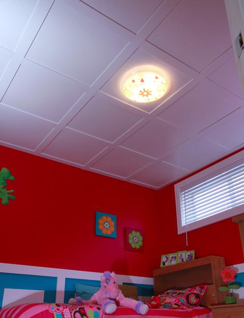 Tuile de plafond suspendu embassy 2 pi x 2 pi faux bois for Install consul