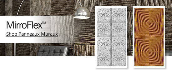 plafond mur l gant tuiles pour plafond suspendu ou coller au plafond et panneaux muraux. Black Bedroom Furniture Sets. Home Design Ideas