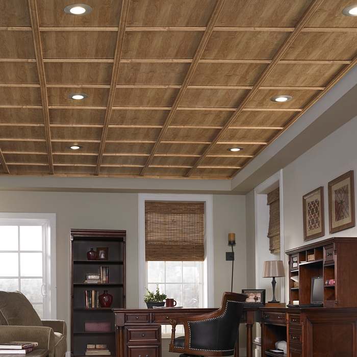 WoodTrac Plafond suspendu fini Abbey Oak