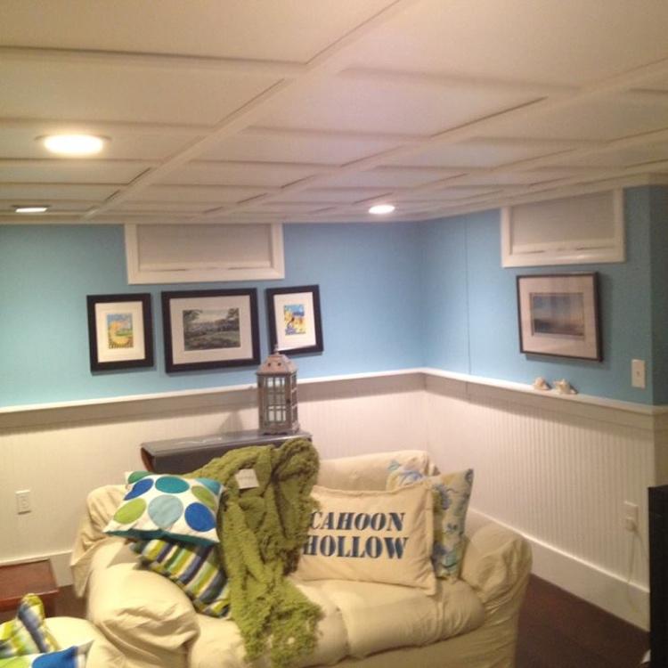 WoodTrac Plafond suspendu fini Blanc