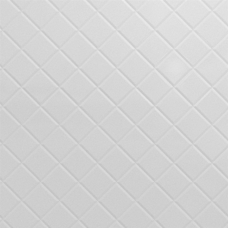 Tuile de plafond suspendu mirroflex quilted 2 pi x 2 pi blanc for Tuile de plafond suspendu